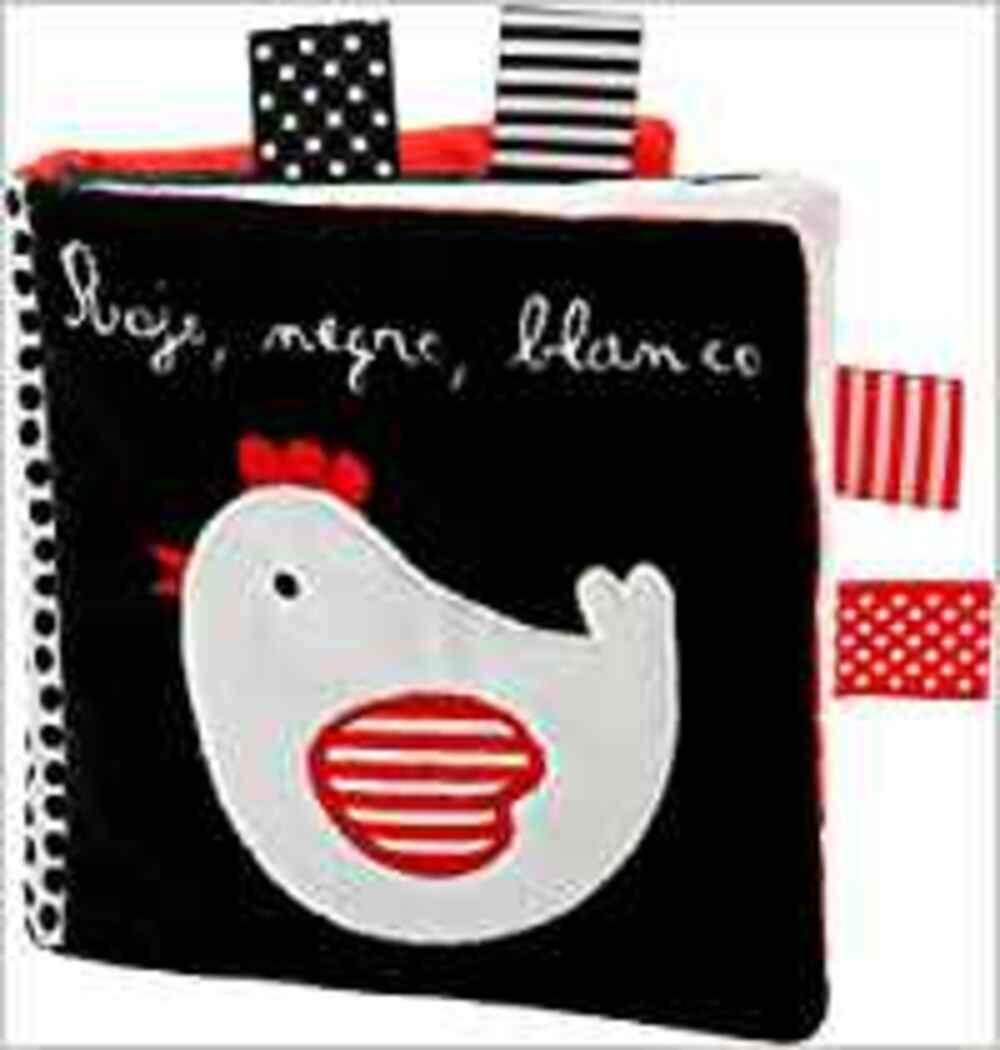 Libro rojo blanco y negro